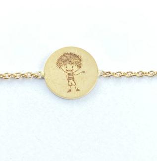 Bracelet en or avec mes enfants