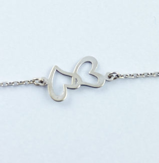 Bracelet double coeurs