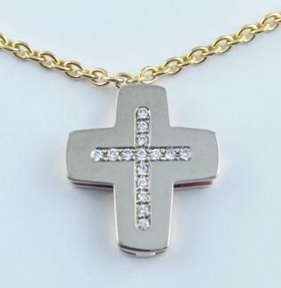 croix et or et diamants