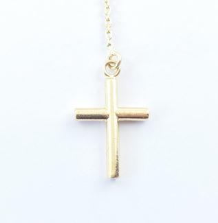 Sautoir croix en or