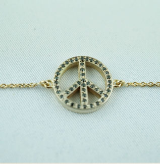 Bracelet peace and love or