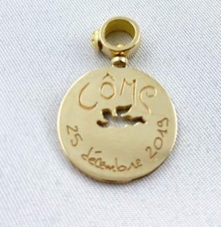 Médaille ange Lyon